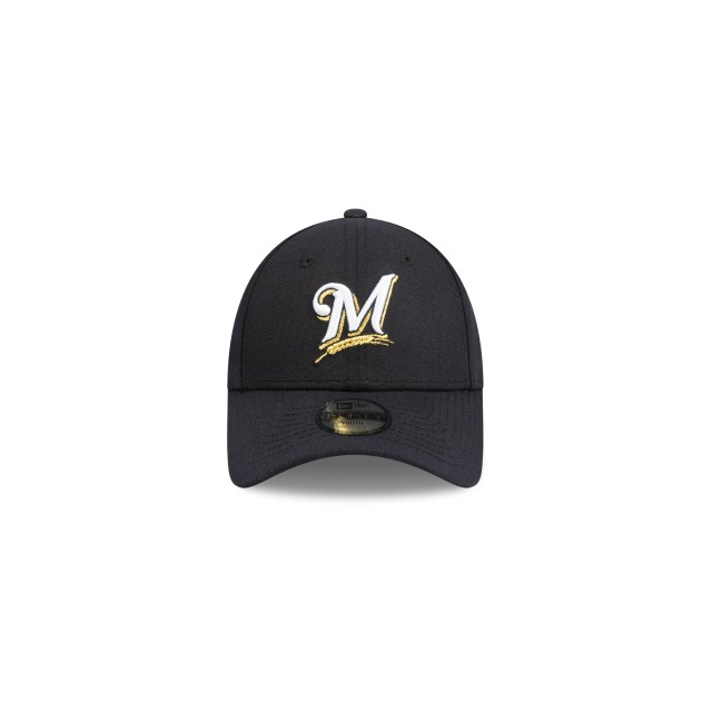 Milwaukee Brewers Navy Youth 9forty | Milwaukee Brewers Baseball Caps | New Era Cap