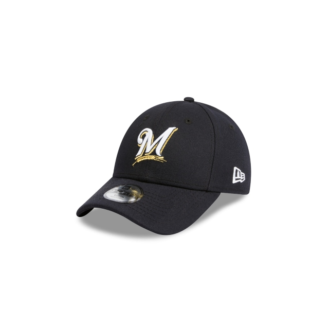MILWAUKEE BREWERS NAVY YOUTH 9FORTY 3 quarter left view