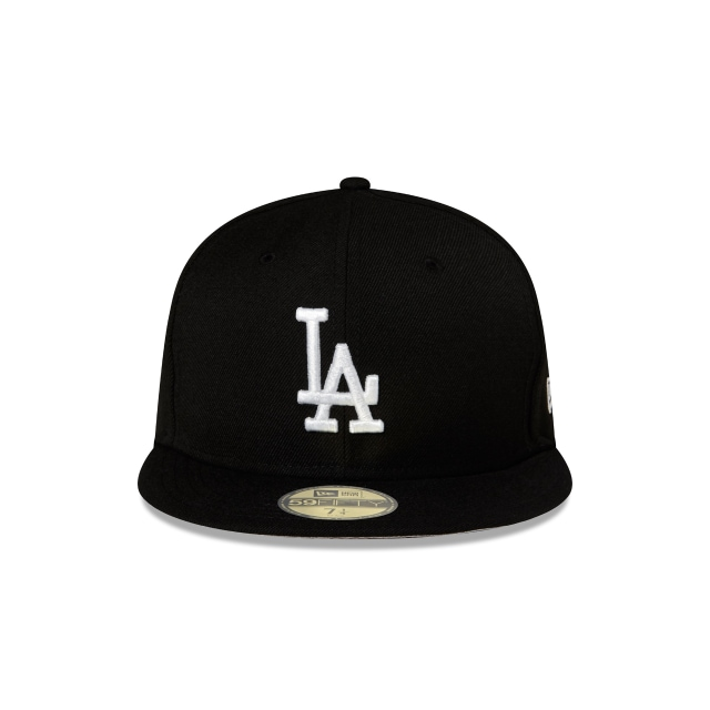 LOS ANGELES DODGERS BLACK 59FIFTY FITTED Front view