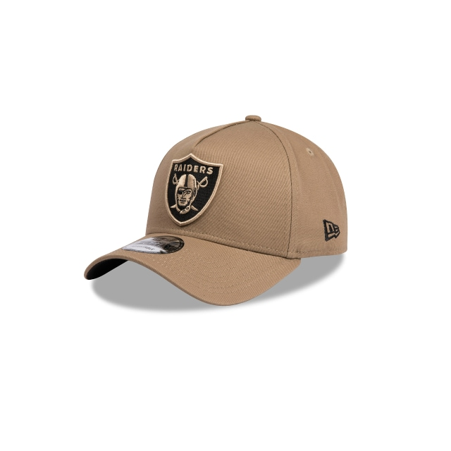OAKLAND RAIDERS LIGHT BROWN 9FORTY A-FRAME 3 quarter left view