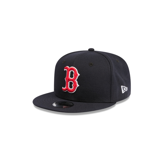 BOSTON RED SOX NAVY YOUTH 9FIFTY 3 quarter left view