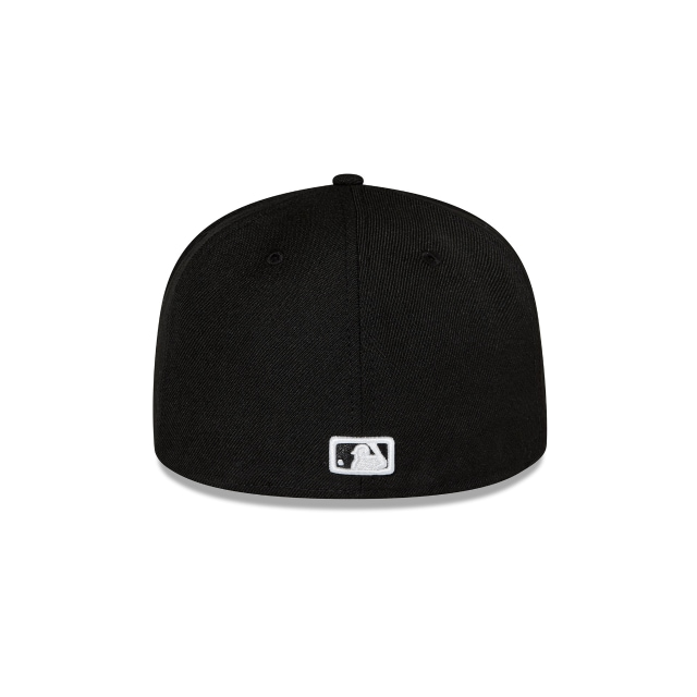 LOS ANGELES DODGERS BLACK 59FIFTY FITTED Rear view