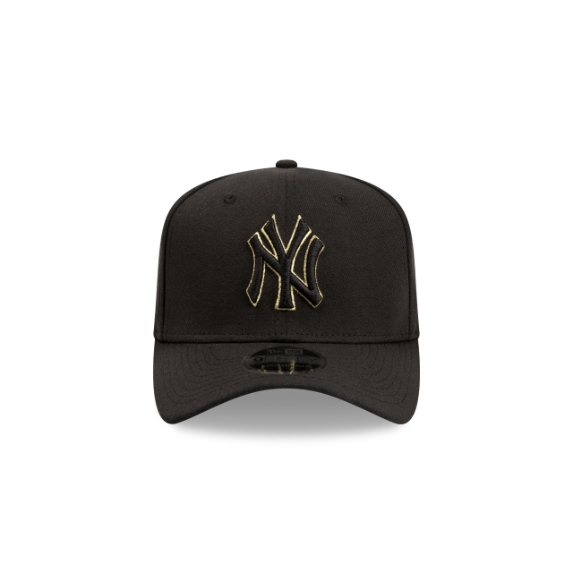 New York Yankees Black Gold 9fifty Stretch Snapback | New York Yankees Baseball Caps | New Era Cap