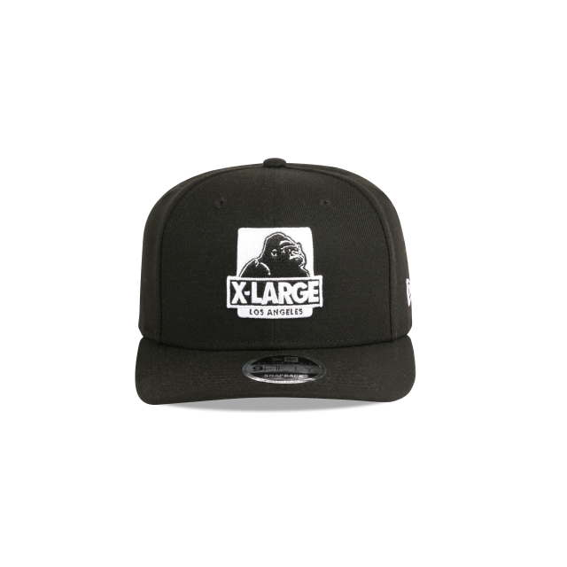 X-LARGE BLACK 9FIFTY ORIGINAL FIT PRE-CURVED SNAPBACK Front view