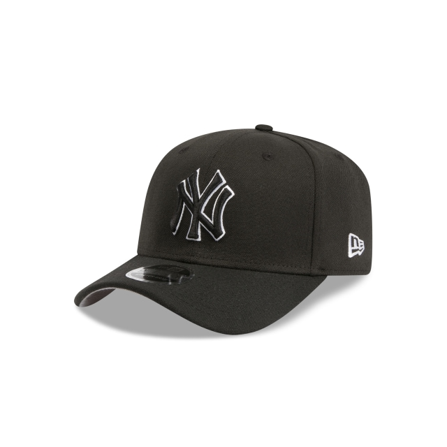 NEW YORK YANKEES BLACK 9FIFTY STRETCH SNAPBACK 3 quarter left view