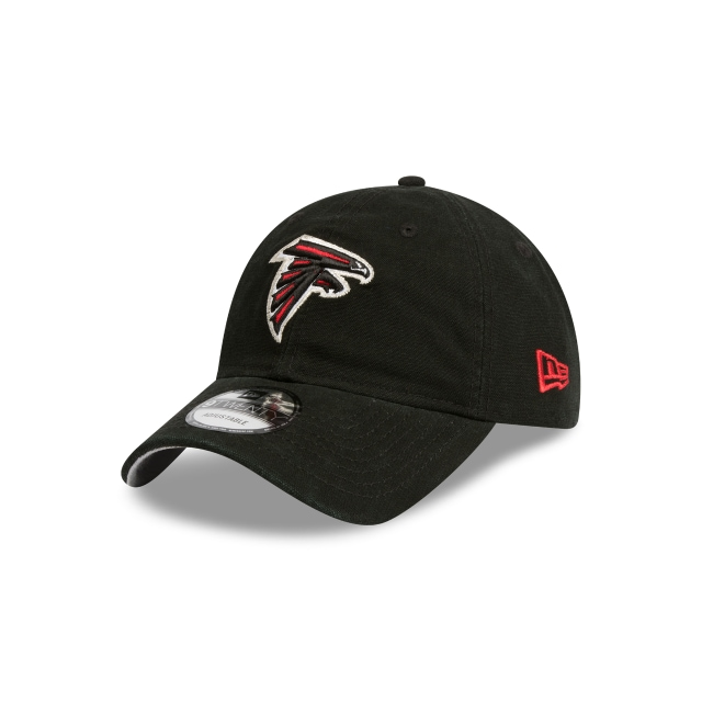 ATLANTA FALCONS WASHED BLACK CANVAS 9TWENTY 3 quarter left view