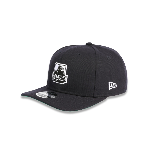 X-LARGE NAVY 9FIFTY ORIGINAL FIT PRE-CURVED SNAPBACK 3 quarter left view
