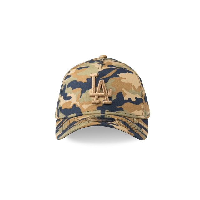 LOS ANGELES DODGERS CAMO 9FORTY A-FRAME Front view