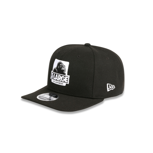 X-LARGE BLACK 9FIFTY ORIGINAL FIT PRE-CURVED SNAPBACK 3 quarter left view