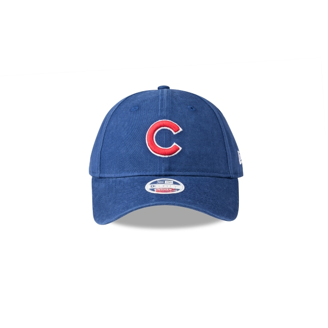 CHICAGO CUBS WASHED LIGHT ROYAL WOMENS 9FORTY Front view