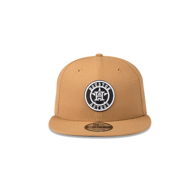 HOUSTON ASTROS WHEAT 9FIFTY SNAPBACK Front view