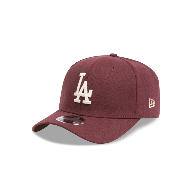 LOS ANGELES DODGERS MAROON 9FIFTY STRETCH SNAPBACK 3 quarter left view