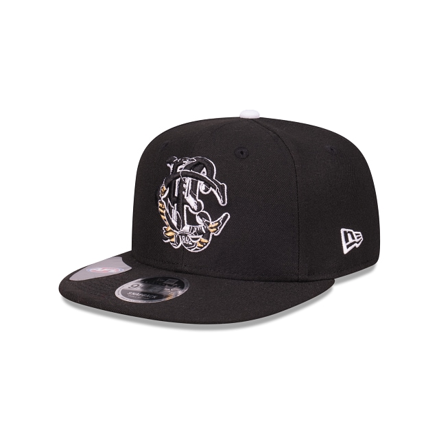 Collingwood Magpies Letter Infill Official Team Colours Original Fit 9FIFTY Snapback | Collingwood Magpies Hats | New Era Cap