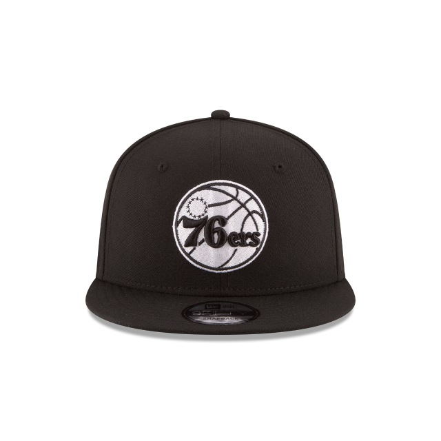 Philadelphia 76ers Black 9fifty | Philadelphia 76ers Basketball Caps | New Era Cap