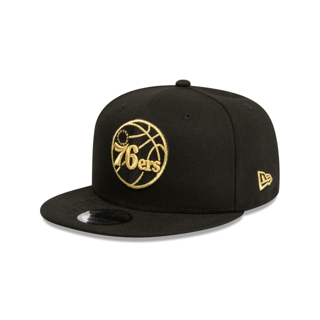 Philadelphia 76ers Black And Gold 9fifty Snapback | New Era Cap