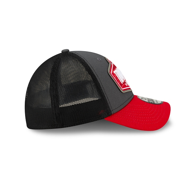 Tampa Bay Buccaneers NFL 2021 Draft Graphite And Official Team Colours 39THIRTY Stretch Fit | Tampa Bay Buccaneers Hats | New Era Cap