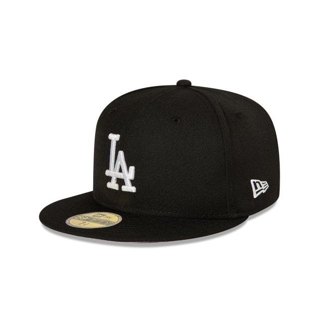 LOS ANGELES DODGERS BLACK 59FIFTY FITTED 3 quarter left view