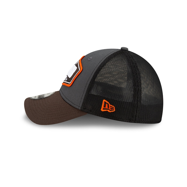Cleveland Browns NFL 2021 Draft Graphite And Official Team Colours 39THIRTY Stretch Fit | Cleveland Browns Hats | New Era Cap