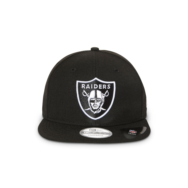 OAKLAND RAIDERS BLACK 9FIFTY SNAPBACK Front view