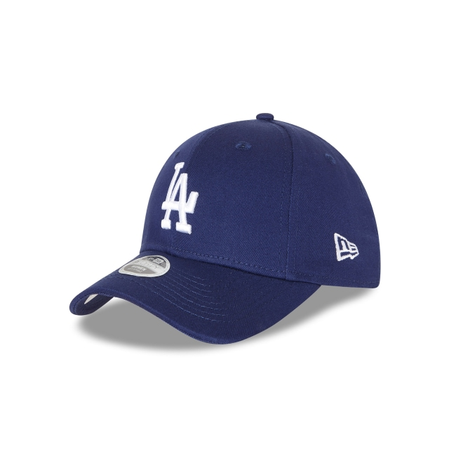 LOS ANGELES DODGERS DARK ROYAL WOMENS 9FORTY 3 quarter left view