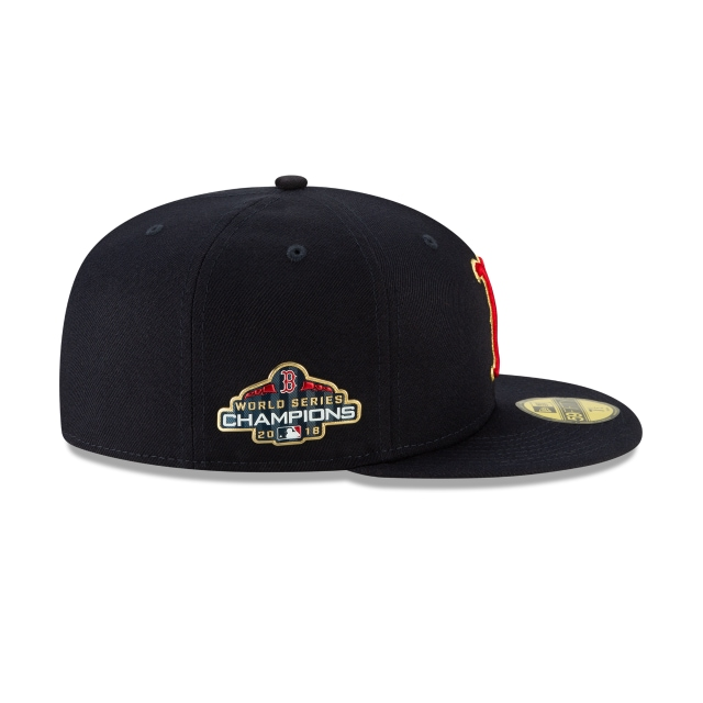8b63daf289a87 Boston Red Sox Gold Collection 59fifty Fitted