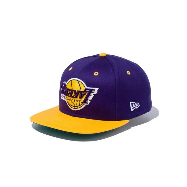 Los Angeles Lakers Upside Down Purple 9fifty Snapback | Los Angeles Lakers Basketball Caps | New Era Cap