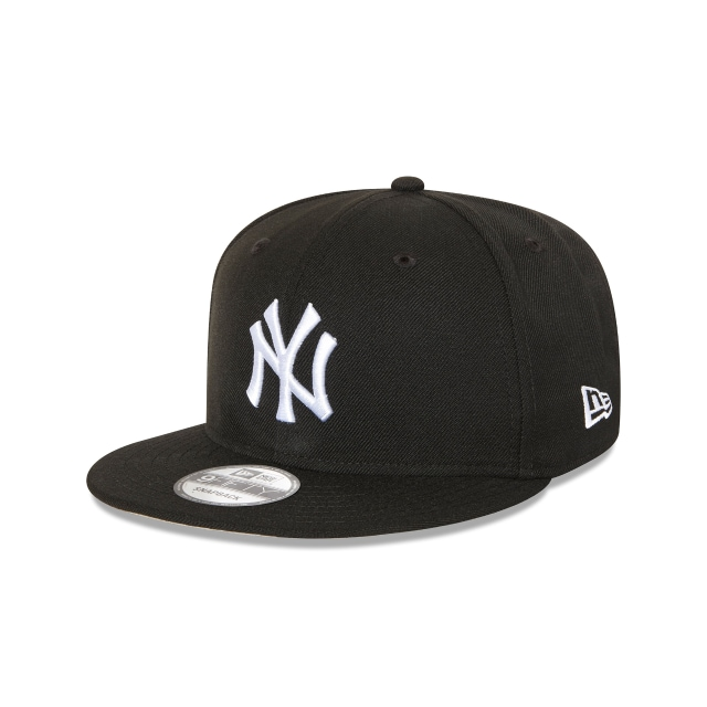 NEW YORK YANKEES BLACK 9FIFTY SNAPBACK 3 quarter left view