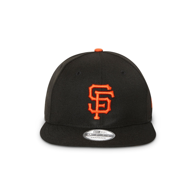 SAN FRANCISCO GIANTS BLACK 9FIFTY SNAPBACK Front view