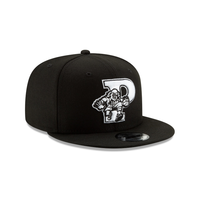PHILADELPHIA 76ERS NBA AUTHENTICS: BACK HALF SERIES BLACK 9FIFTY SNAPBACK 3 quarter right view