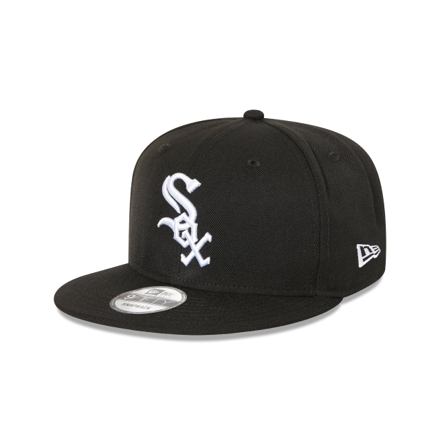 CHICAGO WHITE SOX BLACK 9FIFTY SNAPBACK 3 quarter left view
