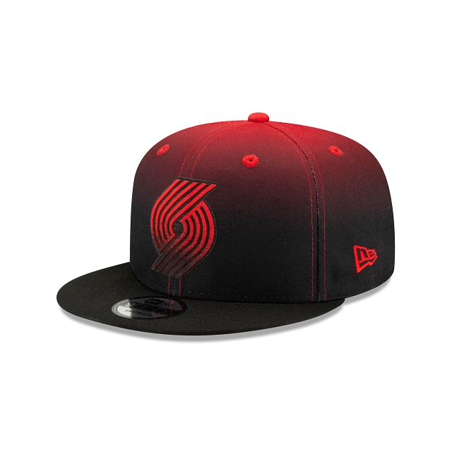 Portland Trailblazers NBA Authentics: Back HaLF Edition Official Team Colours 9FIFTY Snapback | Portland Trail Blazers Hats | New Era Cap