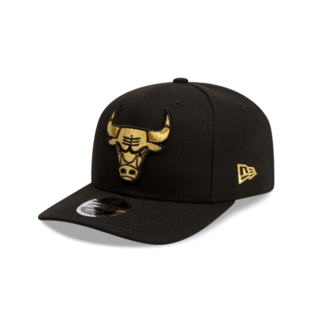 af60c6a7a8e Chicago Bulls Black Gold 9fifty Original Fit