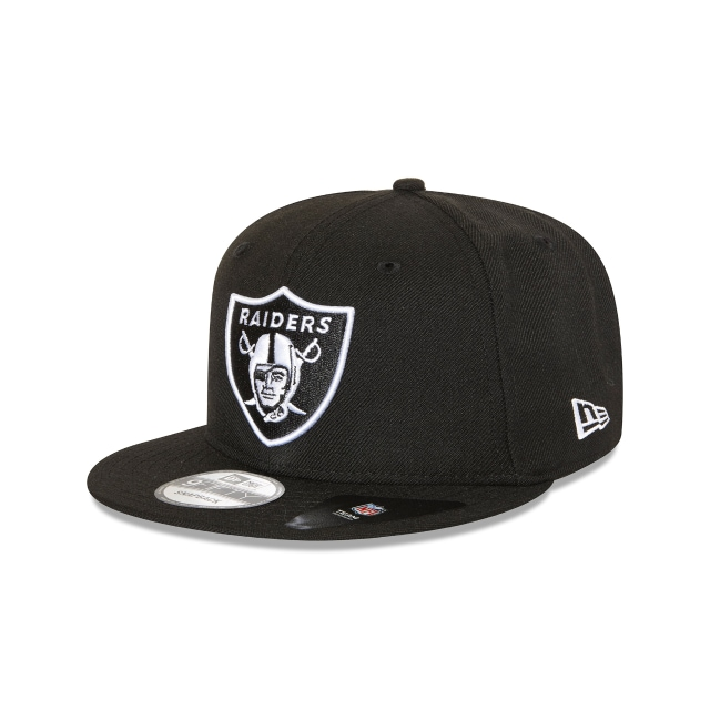 OAKLAND RAIDERS BLACK 9FIFTY SNAPBACK 3 quarter left view
