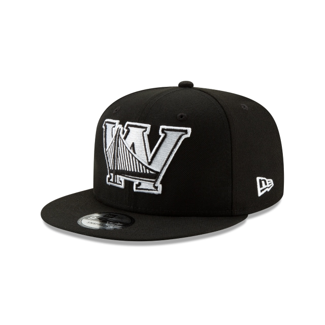 Golden State Warriors Nba Authentics Back Half Series Black 9fifty Snapback | New Era Cap
