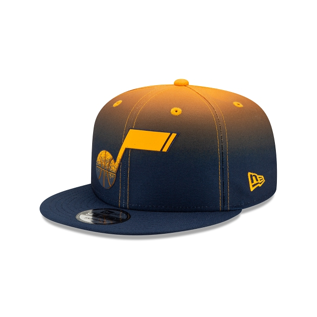 Utah Jazz NBA Authentics: Back HaLF Edition Official Team Colours 9FIFTY Snapback | Utah Jazz Hats | New Era Cap