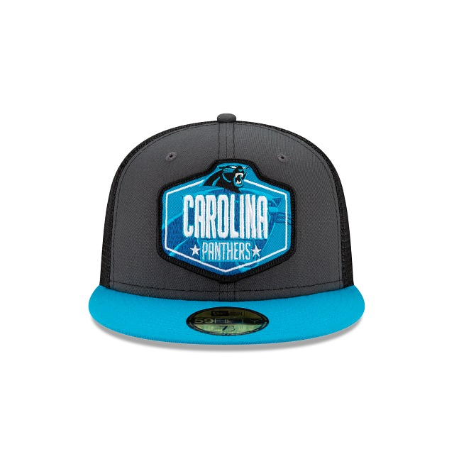 Carolina Panthers NFL 2021 Draft Graphite And Official Team Colours 59FIFTY Fitted | Carolina Panthers Hats | New Era Cap
