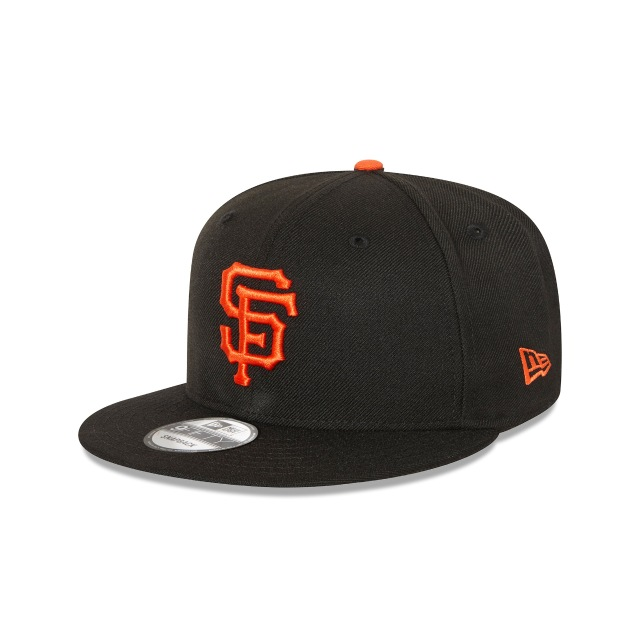 SAN FRANCISCO GIANTS BLACK 9FIFTY SNAPBACK 3 quarter left view