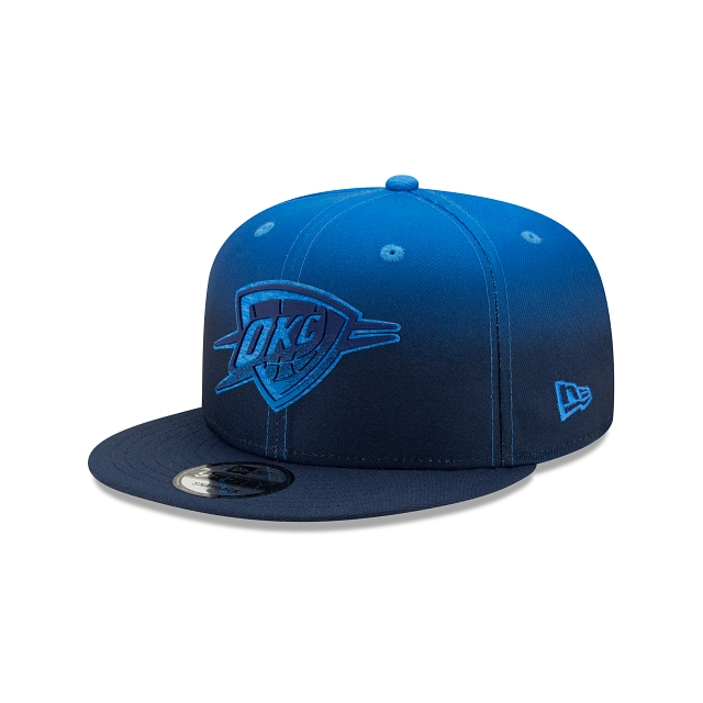 Oklahoma City Thunder NBA Authentics: Back HaLF Edition Official Team Colours 9FIFTY Snapback | Oklahoma City Thunder Hats | New Era Cap