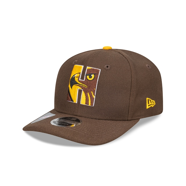 Hawthorn Hawks Letter Infill Official Team Colours Original Fit 9FIFTY Snapback | Hawthorn Hawks Hats | New Era Cap