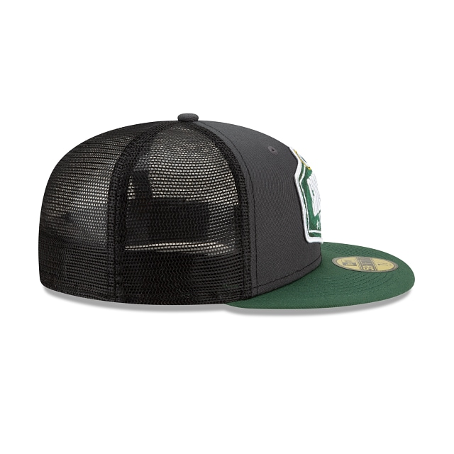 Green Bay Packers NFL 2021 Draft Graphite And Official Team Colours 59FIFTY Fitted | Green Bay Packers Hats | New Era Cap