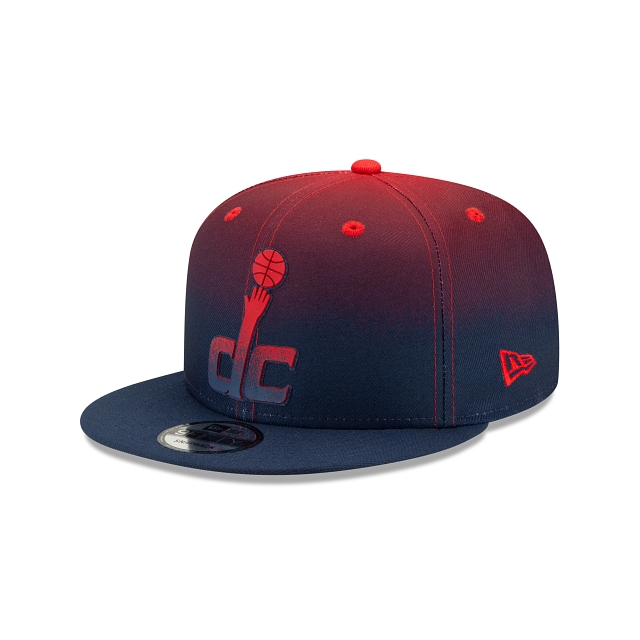 Washington Wizards NBA Authentics: Back HaLF Edition Official Team Colours 9FIFTY Snapback | Washington Wizards Hats | New Era Cap