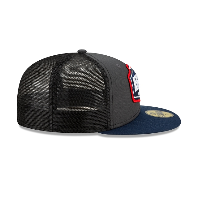 New England Patriots NFL 2021 Draft Graphite And Official Team Colours 59FIFTY Fitted | New England Patriots Hats | New Era Cap