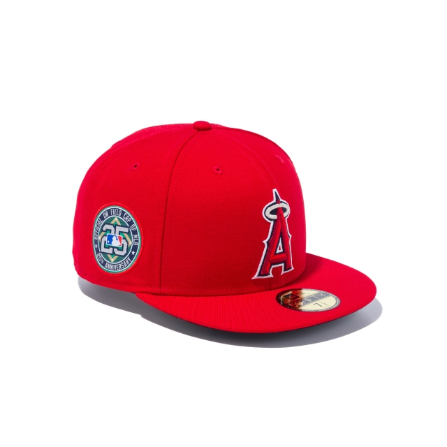LOS ANGELES ANGELS 25TH ANNIVERSARY MLB ON FIELD COLLECTION 59FIFTY FITTED