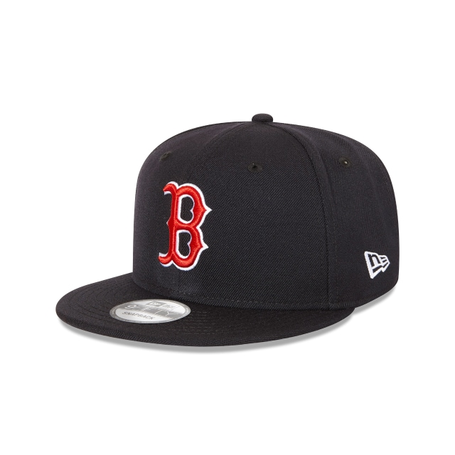 BOSTON RED SOX NAVY 9FIFTY SNAPBACK 3 quarter left view