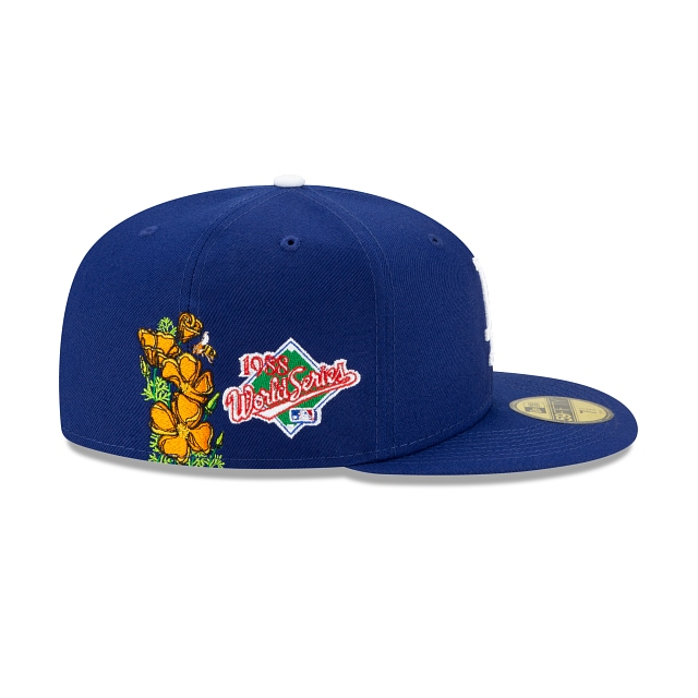 Los Angeles Dodgers World Series State Flower Official Team Colours 59FIFTY Fitted | Los Angeles Dodgers Hats | New Era Cap