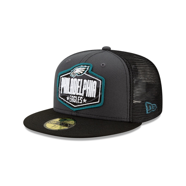Philadelphia Eagles NFL 2021 Draft Graphite And Official Team Colours 59FIFTY Fitted | Philadelphia Eagles Hats | New Era Cap
