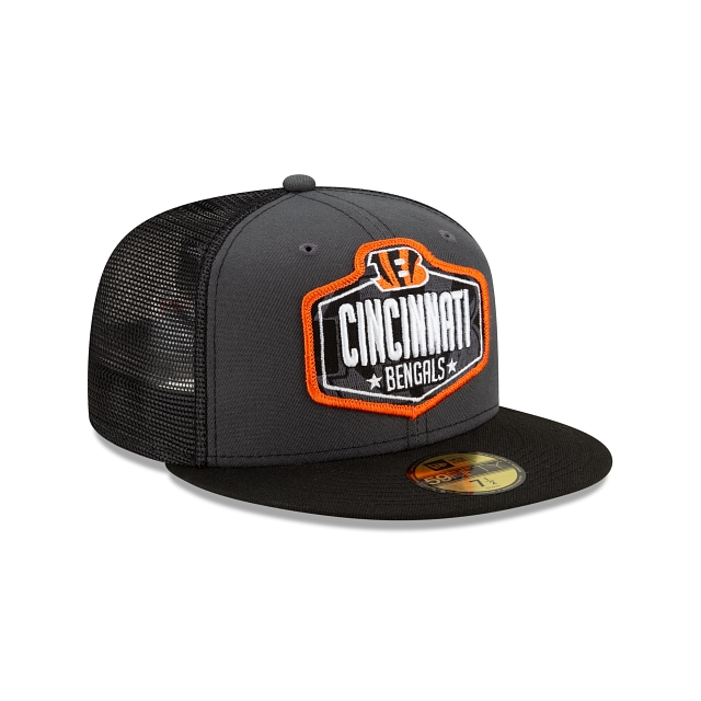 Cincinnati Bengals NFL 2021 Draft Graphite And Official Team Colours 59FIFTY Fitted | Cincinnati Bengals Hats | New Era Cap