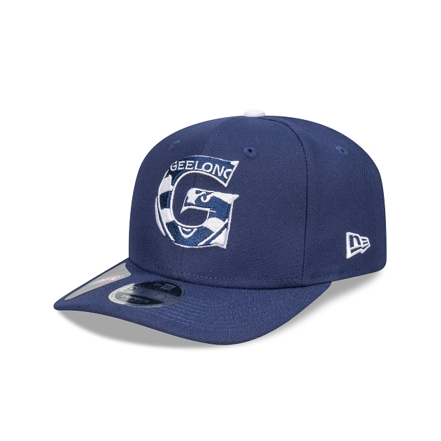 Geelong Cats Letter Infill Official Team Colours Original Fit 9FIFTY Snapback | Geelong Cats Hats | New Era Cap