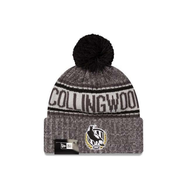 Collingwood Magpies Graphite Grey Marl Beanie | New Era Cap