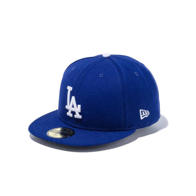 LOS ANGELES DODGERS 25TH ANNIVERSARY MLB ON FIELD COLLECTION 59FIFTY FITTED 3 quarter left view